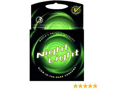 Night light glow in the dark condom – 3 pack