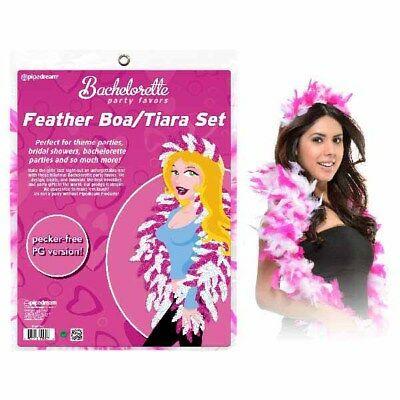 Bachelorette Party Favors Feather Boa & Tiara Set