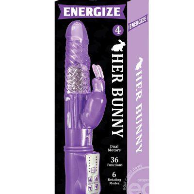 Energize Her Bunny 04 Dual Motor Rabbit Vibrator – Purple